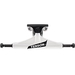 Tensor Aluminium Regular Switch Flick Skateboard Trucks - White/Black