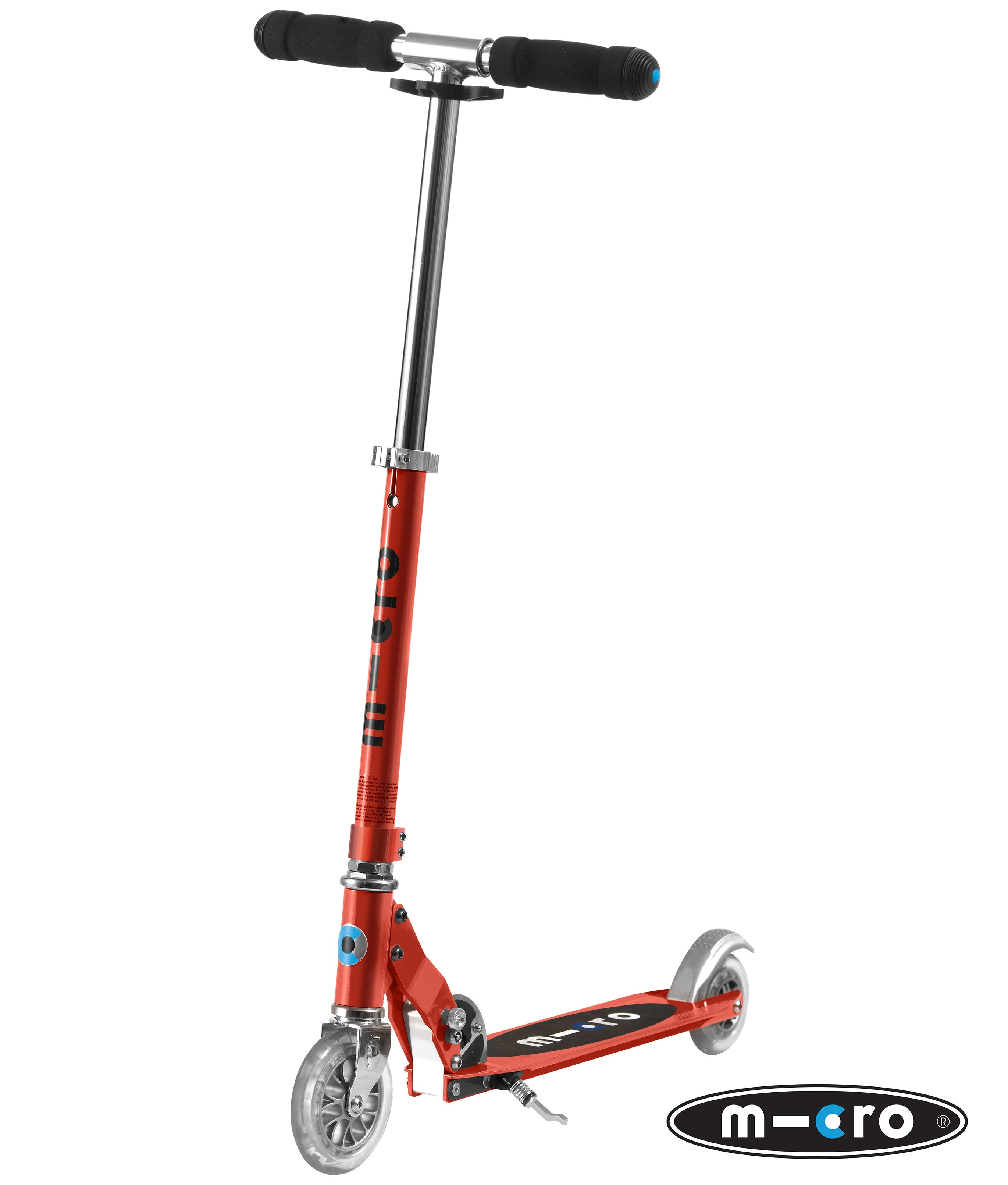 micro sprite folding scooter red complete scooters. Black Bedroom Furniture Sets. Home Design Ideas
