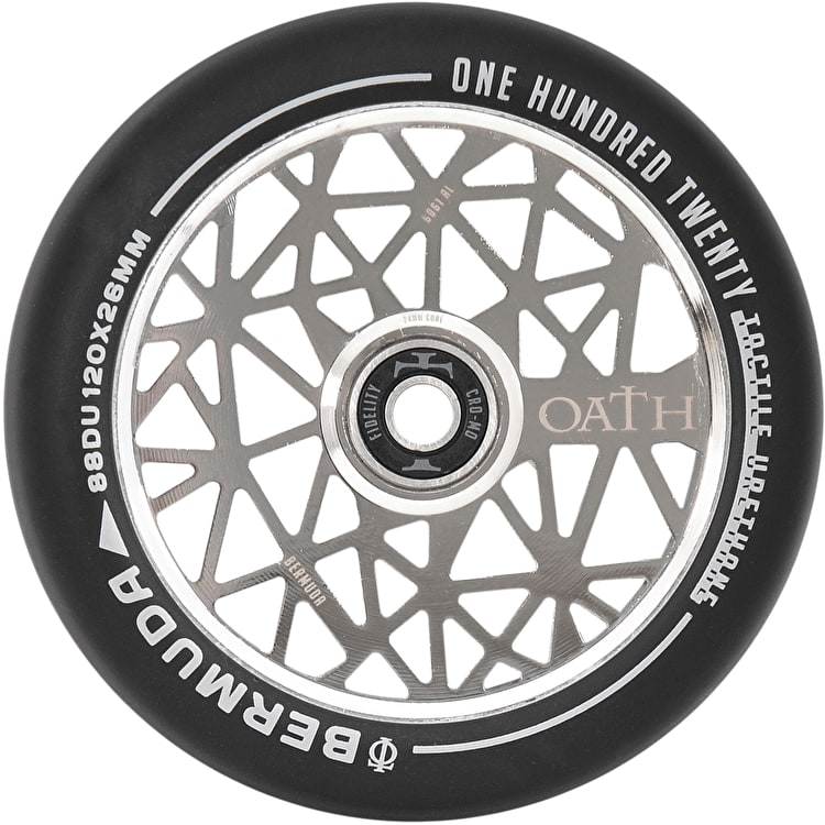 Oath Bermuda Alloy Core Scooter Wheel 120mm - Neo Silver