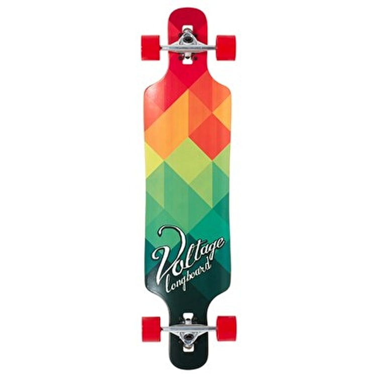 """Voltage Drop Through Complete Longboard - Red/Green 39"""""""