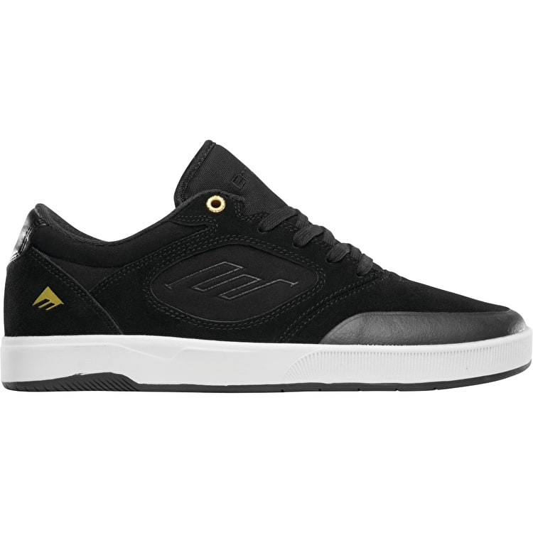 Emerica Dissent Skate Shoes - Black/White/Gold