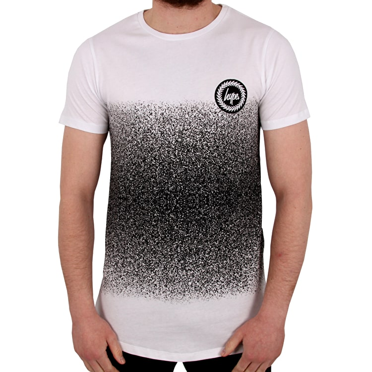 Hype Mid Fade T shirt - White/Black