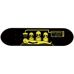 Alien Workshop Abduction Skateboard Deck - Black/Yellow 8.125