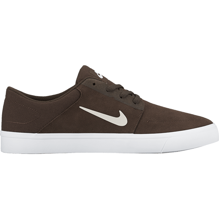 Nike SB Portmore Skate Shoes - Baroque Brown/Ivory
