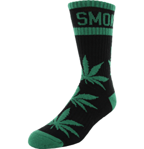 DGK Stay Smokin 2 Crew Socks - Black/Green