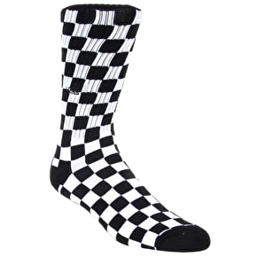 Vans Checkerboard Crew Socks - Black/White