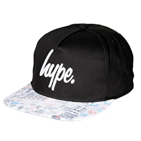 Hype Illustrated Snapback Cap - Black