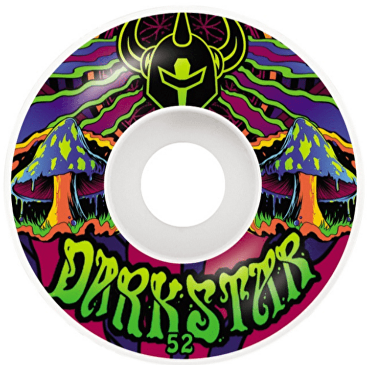 Darkstar Skateboard Wheels - Trippy Green 52mm