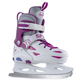 SFR Ice Skates - Eclipse Lights White/Pink