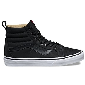 Vans Sk8-Hi Reissue PT Skate Shoes - (Military Twill) Black/True White