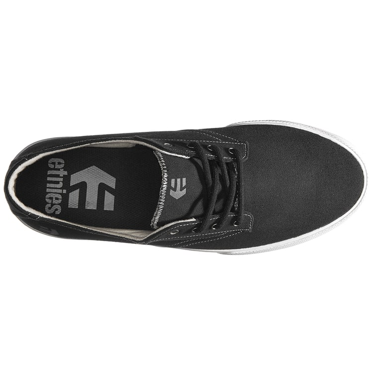 Etnies Jameson Vulc LS Skate Shoes - Black/White/Grey
