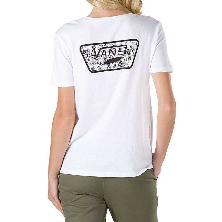 Vans Ditsy Blooms Full Patch Womens T-Shirt - White