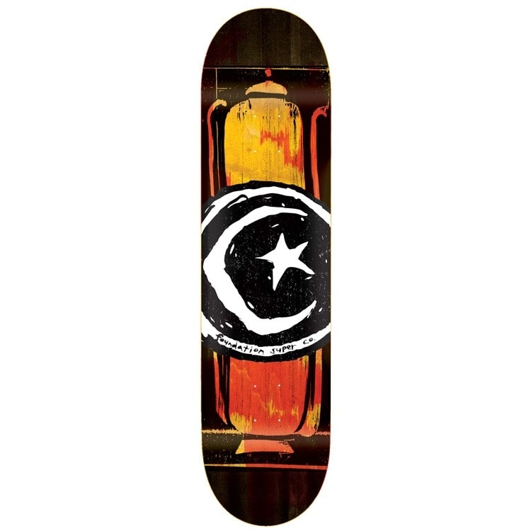 Foundation Star & Moon Long Pot Skateboard Deck 8""