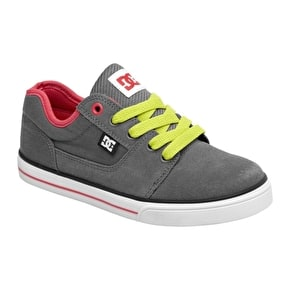 DC Bristol Canvas Kids' Shoes - Pewter