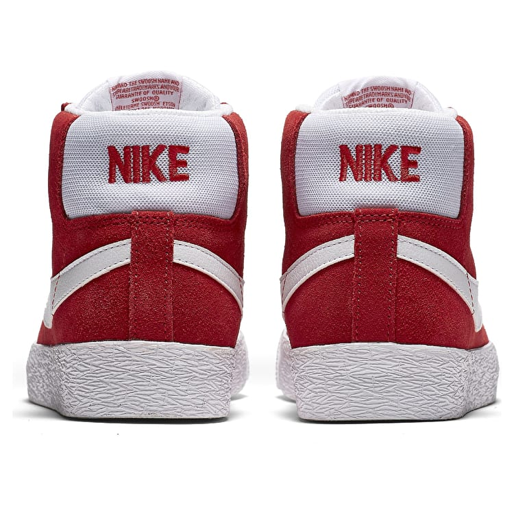Nike SB Zoom Blazer Mid Skate Shoes - University Red/White