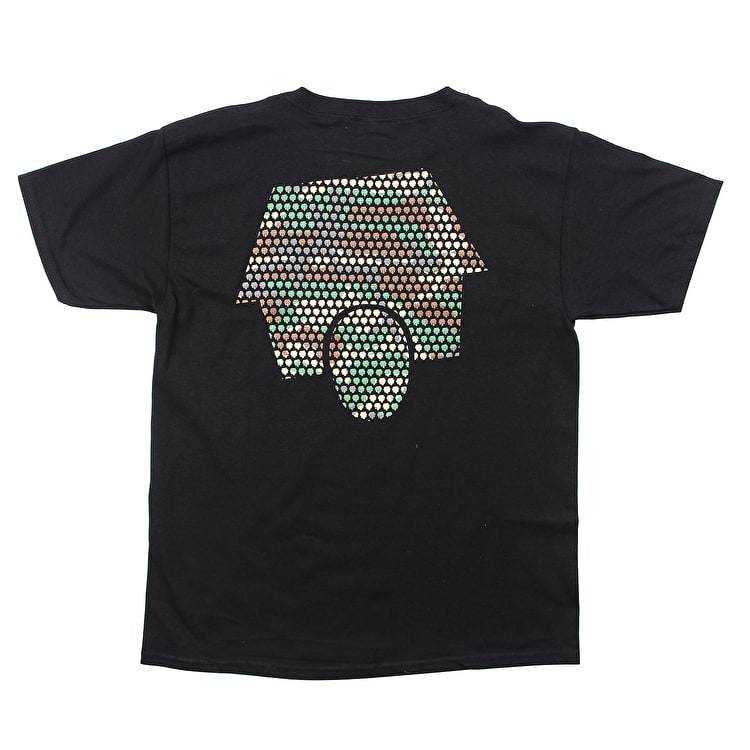 SkateHut Hut Dot Logo Kids T shirt - Black/Camo