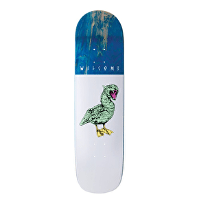 Welcome Gooser On Bunyip Skateboard Deck - White 8.0