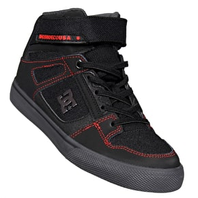 DC Spartan High SE EV Kids Skate Shoes - Black/Red/Grey