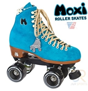Moxi Pool Blue Quad Roller Skates