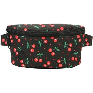 Mi-Pac Cherries Slim Bum Bag - Black
