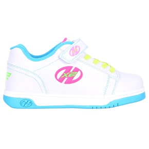 Heelys X2 Dual Up - Solid White/Neon Multi