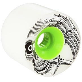 These Pro K Stage 1 Longboard Wheels - White/Green 72mm (Pack of 4)