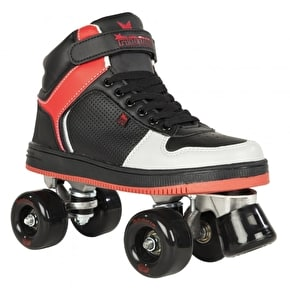 Rookie Quad Skates - Hype Hi-Top Black/Red