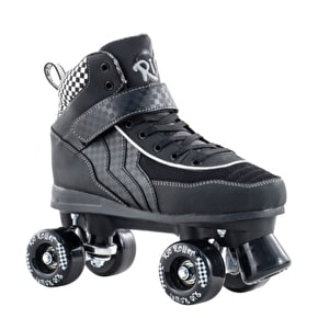 B-Stock Rio Roller Mayhem Quad Skates - Black/White - UK 7 (Box Damage)