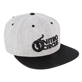 Nitro Circus Captain Scrap Flat Peak Cap - Heather/Grey