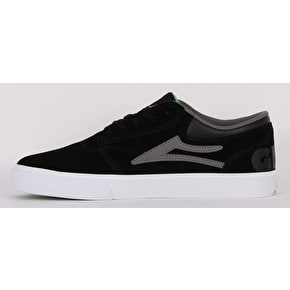 Lakai x Girl Griffin Skate Shoes - Black/Grey Suede