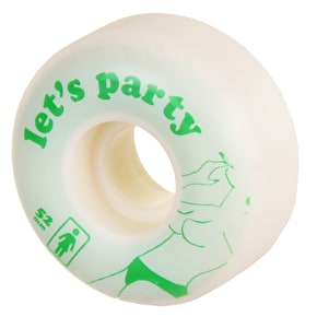 Girl Let's Party Skateboard Wheels - 52mm
