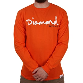 Diamond Supply Co OG Script Longsleeve T-Shirt - Orange