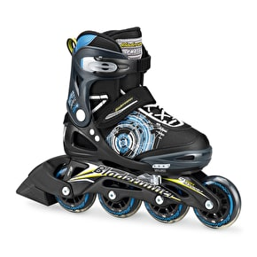 B-Stock Bladerunner 2017 Phaser Kids Roller Blades - Black/Light Blue Medium JUK13 - UK3 (Box Damage)