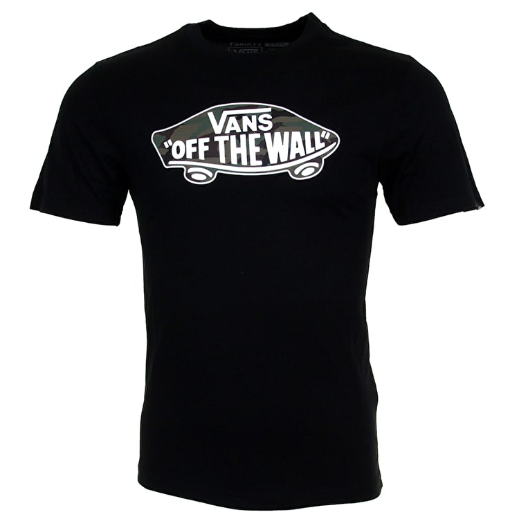 Vans OTW Logo Fill Kids T-Shirt - Black/Camo