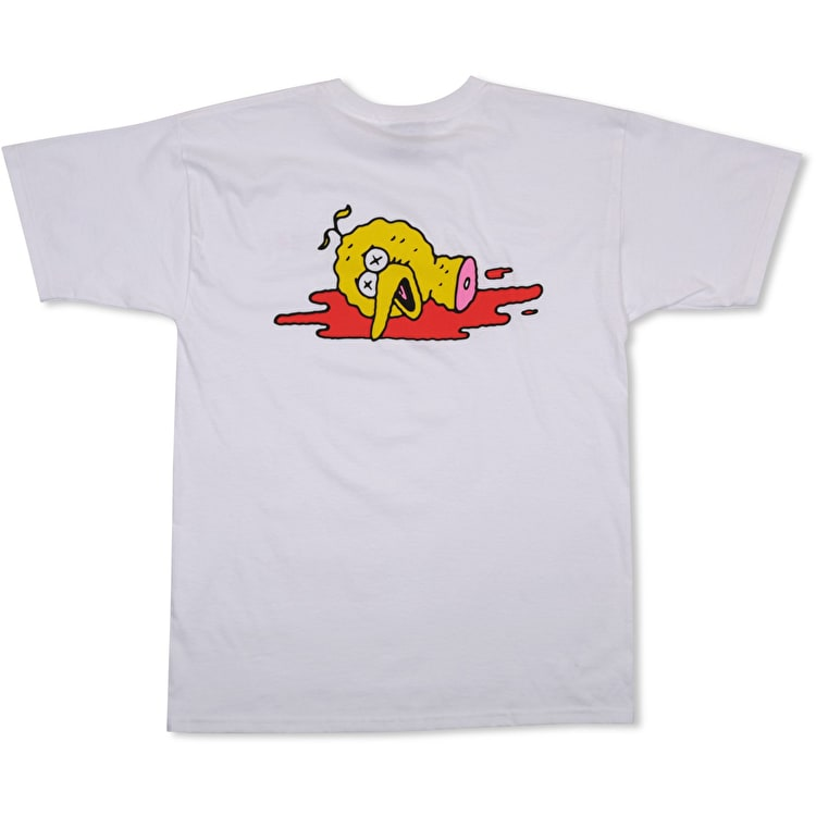 Pizza Skateboards Ride Together T shirt - White