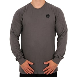 SkateHut Scooter Ride Long Sleeve T Shirt - Charcoal