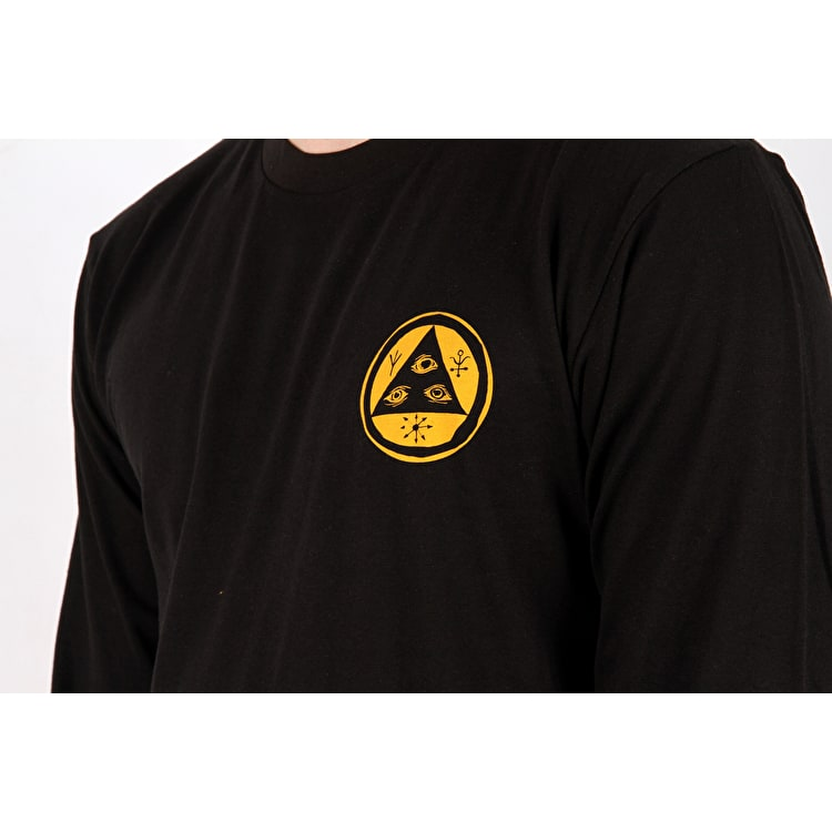 Welcome Saberskull Long Sleeve T shirt - Black/Rainbow