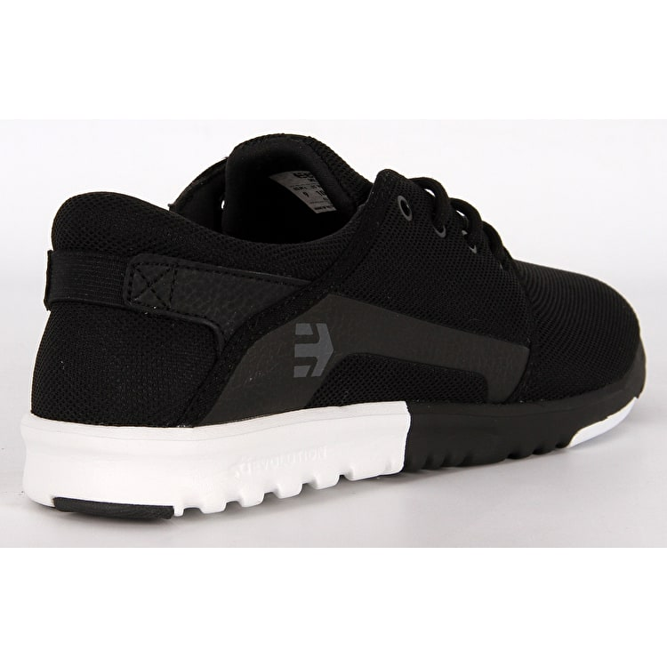 Etnies Scout Skate Shoes - Black/White/White