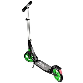 Ridge Big Wheel Pro Dual Suspension Complete Scooter - Black/Green