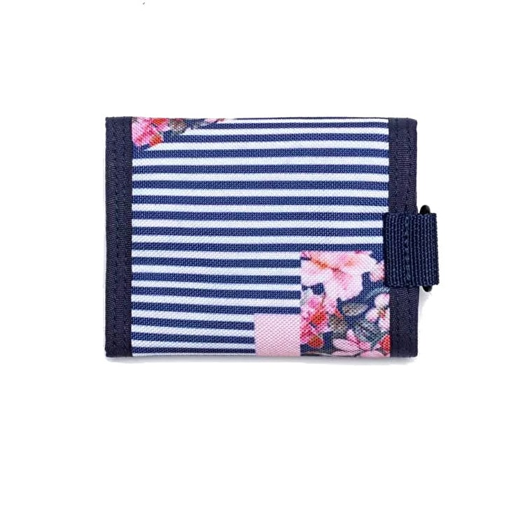 Hype Floral Stripe Trifold Wallet - Navy