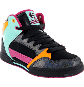 Etnies Uptown 2.0 Shoes - Black/Pink/Green