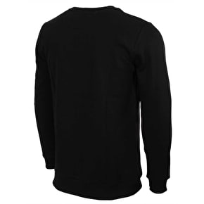 Hype Speckle Fade Circle Crewneck - Black