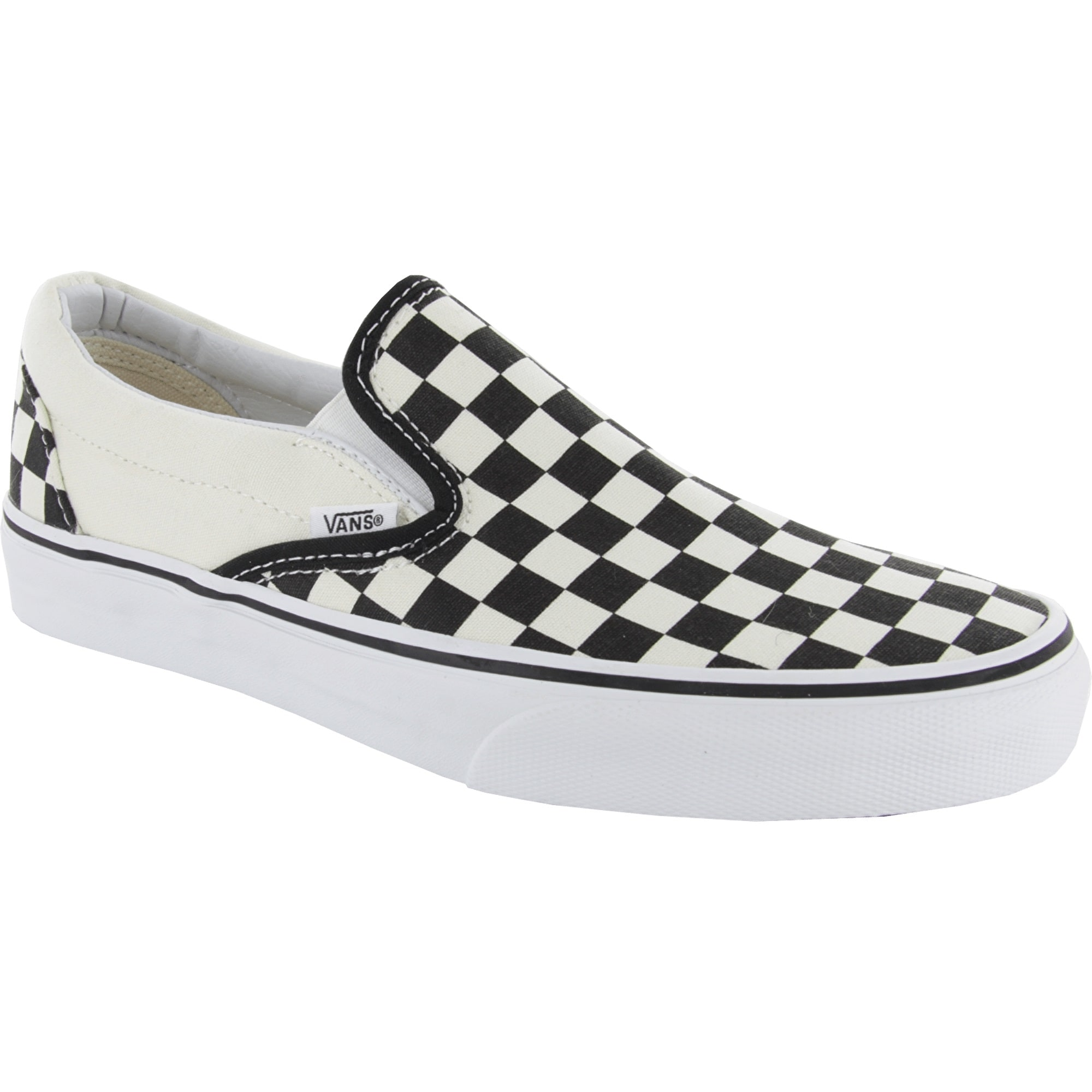 vans classic enfiler chaussures noir blanc damier ebay. Black Bedroom Furniture Sets. Home Design Ideas