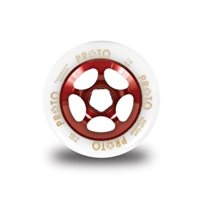 PROTO 110mm Gripper Wheel - White on Red
