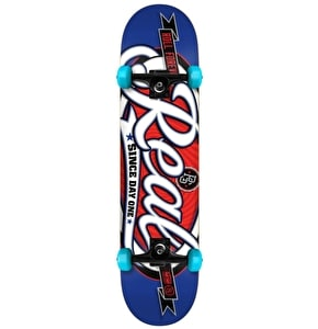 Real Oval Custom Complete Skateboard - Blue 7.75
