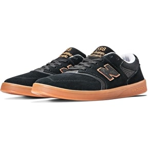 New Balance 598 Shoes - Black/Orange/Gum