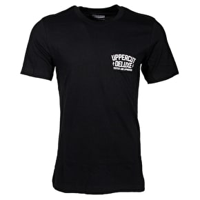 Uppercut Deluxe Don't Trim On Me T-Shirt - Black/White Print