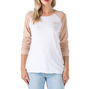 Vans Full Patch Womens Raglan T-Shirt - White/Mahogany Rose
