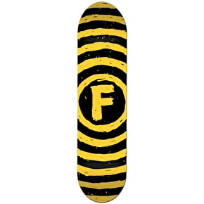 Foundation Vertigo Sketch Skateboard Deck - Black/Yellow 7.75