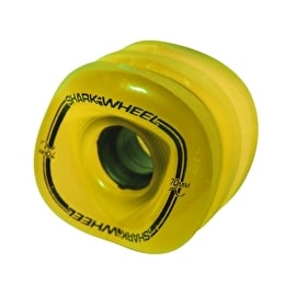 Shark Wheel Sidewinder 70mm 78a Longboard Wheels - Yellow 78A(Pack of 4)
